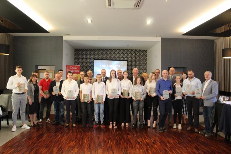 Wyróżnieni sportowcy i goście II Gali Sportu